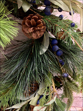 Load image into Gallery viewer, Pine Wreath with Blueberries - Designer DIY