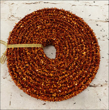 Load image into Gallery viewer, Orange Glitter Ribbon - 5 Yards - Designer DIY