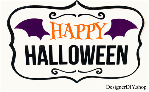 Happy Halloween Metal Sign - Designer DIY
