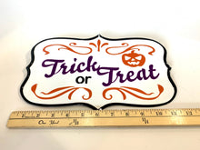 Load image into Gallery viewer, Trick or Treat Metal Sign | Halloween - Designer DIY