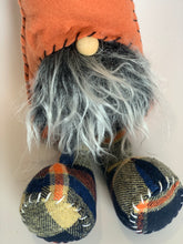 Load image into Gallery viewer, Fall Plaid Gnome | Navy Blue and Orange - Designer DIY