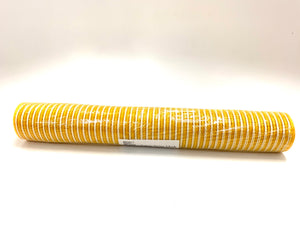 "21"" Sunflower Yellow with White Stripes Mesh - Designer DIY"