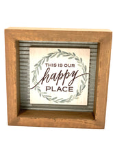 Load image into Gallery viewer, This is Our Happy Place Framed Sign - Designer DIY