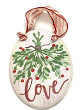 Load image into Gallery viewer, Mistletoe Christmas Wood Sign | Ornament - Designer DIY
