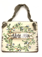 Load image into Gallery viewer, Adore Him Christmas Sign | Ornament - Designer DIY
