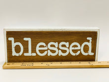 Load image into Gallery viewer, Blessed Wood Sign - Designer DIY