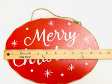 Load image into Gallery viewer, Merry Christmas Sign | Red & White - Designer DIY