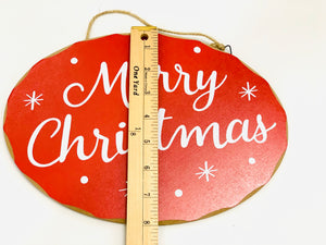 Merry Christmas Sign | Red & White - Designer DIY