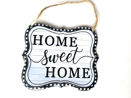 Home Sweet Home Tin sign - Designer DIY
