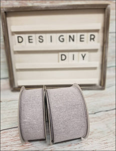 "1.5"" Light Gray Solid Ribbon - Designer DIY"