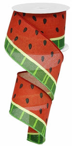 "2.5"" Red Watermelon Ribbon - Designer DIY"