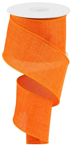 "2.5"" Orange Solid Ribbon - Designer DIY"