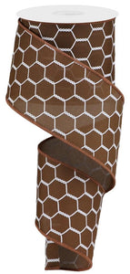 "2.5"" Brown Chicken Wire Ribbon - Designer DIY"