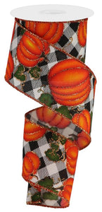 "2.5"" Fall Plaid Pumpkin Ribbon - Designer DIY"