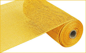 "10"" Yellow Poly Burlap Mesh - Designer DIY"