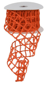 "2.5"" Orange Open Weave Ribbon - Designer DIY"