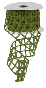 "2.5"" Fern Green Open Weave Ribbon - Designer DIY"