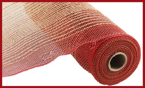 "10.5"" Red and Natural Ombre Mesh - Designer DIY"