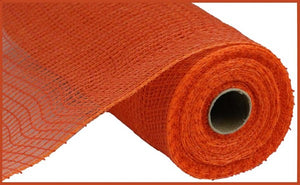"10.5"" Orange Faux Jute Mesh - Designer DIY"