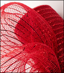 "10"" Red Metallic Mesh - Designer DIY"