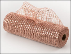 "10"" Rose Gold Metallic Mesh - Designer DIY"