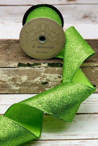 "4"" Apple Glitter DESIGNER Ribbon - Designer DIY"