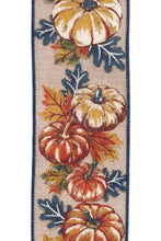 "Load image into Gallery viewer, 2.5"" Fall Pumpkin DESIGNER Ribbon 