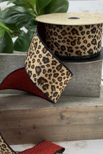 "Load image into Gallery viewer, 2.5"" Faux Fur Leopard DESIGNER Ribbon 