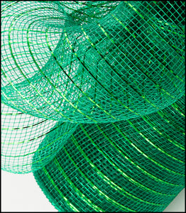 "10"" Emerald Green Metallic Mesh - Designer DIY"