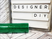 "Load image into Gallery viewer, 10"" Emerald Green Metallic Mesh - Designer DIY"