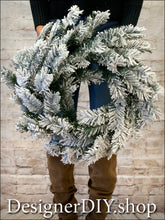 Load image into Gallery viewer, Flocked Pine Wreath - Designer DIY