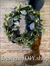 Load image into Gallery viewer, Frosted Greenery Wreath - Designer DIY