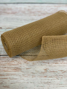 "10"" Tan Natural Fabric Mesh - Designer DIY"