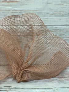 10 inch Mauve Fabric Mesh, Blush Mesh, Rose Gold mesh. Designer DIY offers metallic mesh, jute mesh, burlap mesh, fabric mesh, poly mesh. Perfect for a wreath, garland, swag, etc.