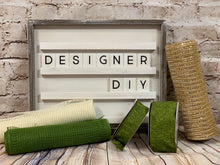 "Load image into Gallery viewer, 10"" Natural Jute Burlap Mesh - Designer DIY"
