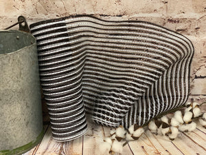 "10"" Black and White Stripe Metallic Mesh - Designer DIY"