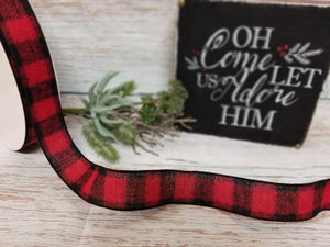 "1.5"" Red and Black Buffalo Plaid Check Ribbon - 10 yards - Designer DIY"