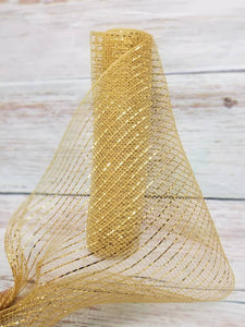 "10"" Gold Metallic Mesh - Designer DIY"