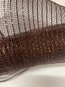 "10"" Brown Metallic Mesh - Designer DIY"