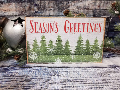 Season's Greetings Wood Sign - Designer DIY