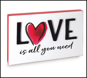Love is All You Need Sign - Designer DIY