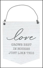 Load image into Gallery viewer, Love Grows Best Wood Sign - Designer DIY