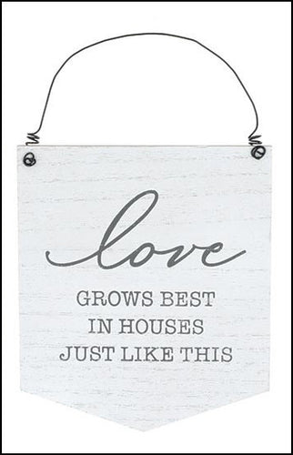 Love Grows Best Wood Sign - Designer DIY