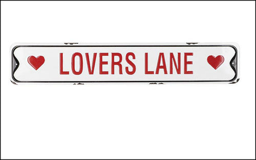 Lovers Lane Metal Sign - Designer DIY