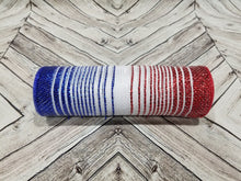 "Load image into Gallery viewer, 10"" Patriotic Ombre Metallic Mesh - Designer DIY"