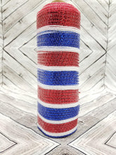 "Load image into Gallery viewer, 10"" All Metallic Red, White, Blue Mesh - Designer DIY"