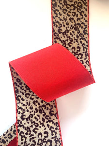 "4"" Leopard DESIGNER Ribbon 