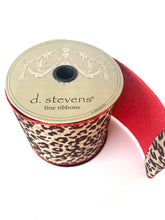"Load image into Gallery viewer, 4"" Leopard DESIGNER Ribbon 