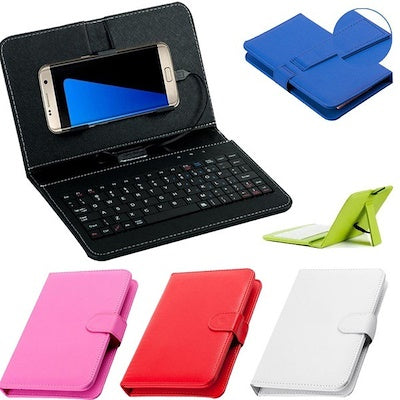 General Compact Wired Flip Cover Phone Keyboard