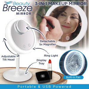 Beauty Breeze with Fan and LED Light